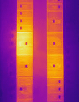 Thermogram of a paneboard cover